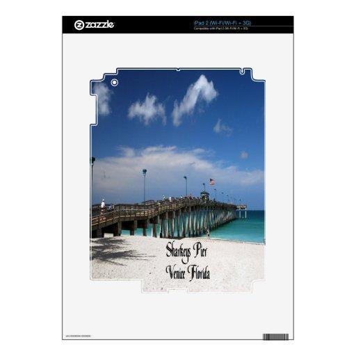 Embarcadero de Sharkeys Calcomanía Para El iPad 2