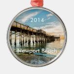 Embarcadero del balboa de la playa de Newport Adorno Navideño Redondo De Metal