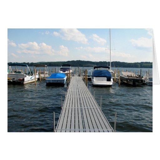 Embarcadero del barco - lago Chautauqua Tarjeta De Felicitación