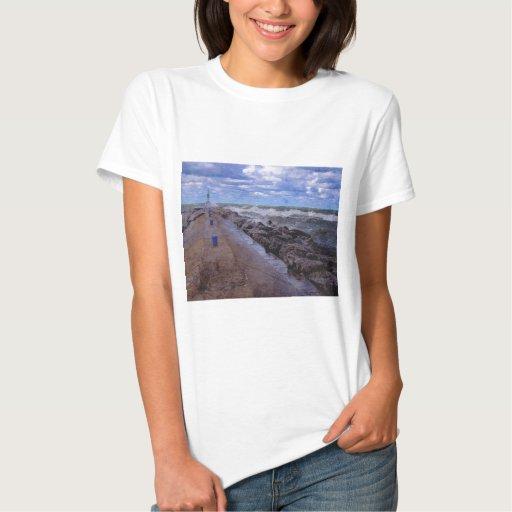 Embarcadero del lago Michigan Camisas