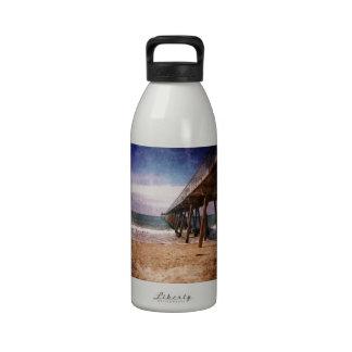 Embarcadero del Océano Pacífico de California Botella De Agua