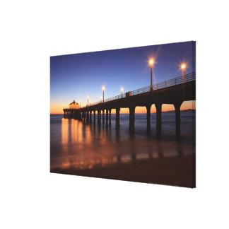 Embarcadero en la puesta del sol, California de Impresiones En Lona