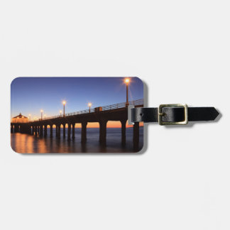 Embarcadero en la puesta del sol, California de Ma Etiquetas Para Maletas