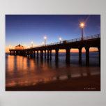 Embarcadero en la puesta del sol, California de Ma Impresiones
