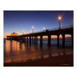 Embarcadero en la puesta del sol, California de Ma Póster