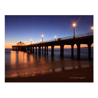 Embarcadero en la puesta del sol, California de Tarjetas Postales