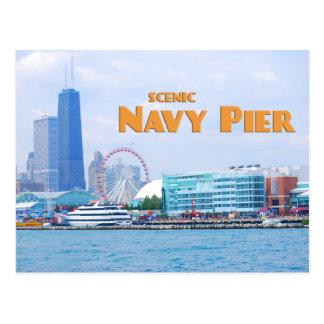 Embarcadero escénico de la marina de guerra - tarjeta postal