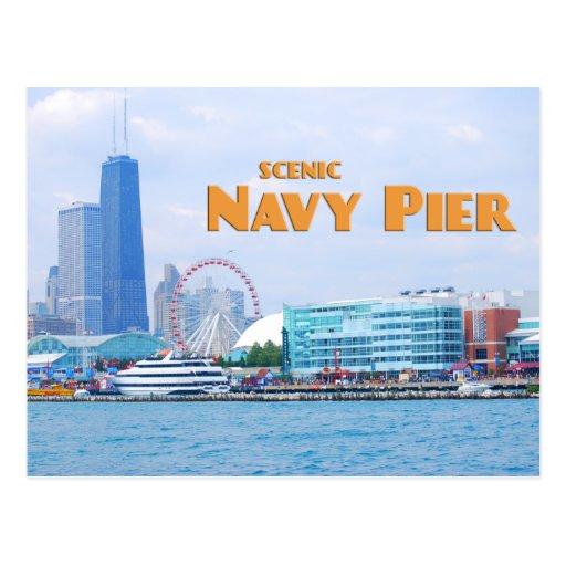 Embarcadero escénico de la marina de guerra - tarjetas postales
