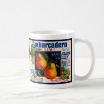 Embarcadero Fancy Santa Clara Pears Coffee Mug