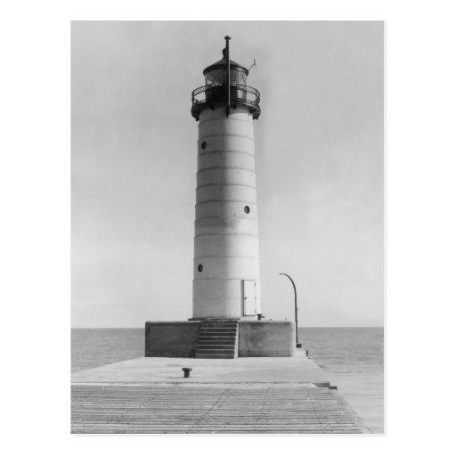 Embarcadero Lighthouse, Wisconsin, 1915 del Mt. Sh Postal