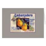 Embarcadero Pears Fruit Crate Label Card