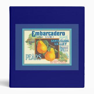 Embarcadero Pears Retro Crate Art Binder