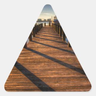 Embarcadero Pegatina Triangular