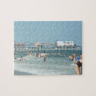 Embarcadero viejo de la playa de la huerta puzzle con fotos