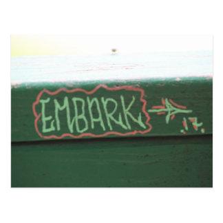 Embark! Live your life! Postcard