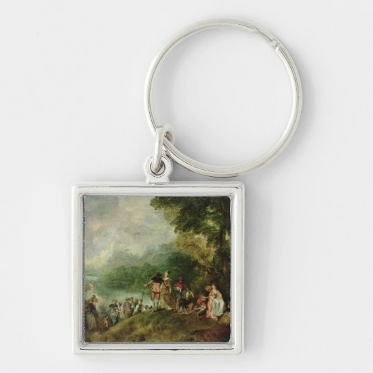 Embarkation for Cythera, 1717 Keychain