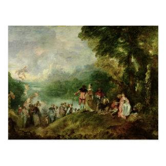 Embarkation for Cythera, 1717 Postcard
