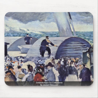 Embarkation For Folkestone By Manet Edouard Mouse Pads