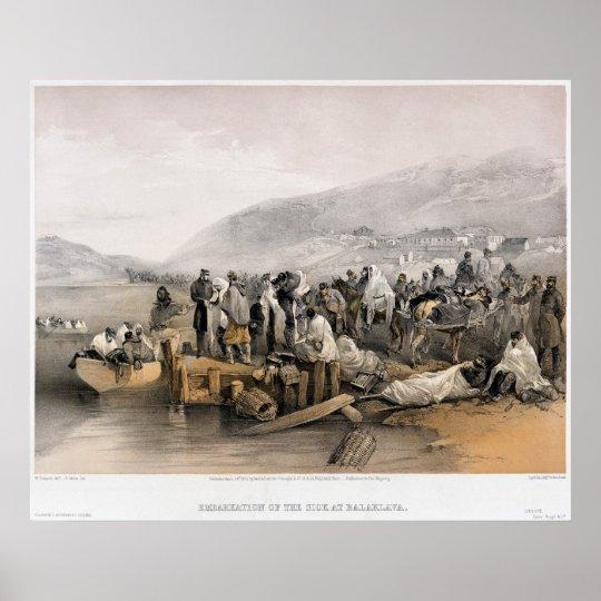 Embarkation of Sick Persons at Balaklava Harbor Poster