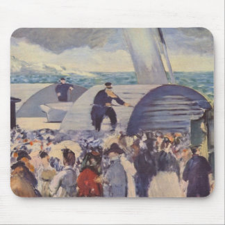Embarkation of the Folkestone by Edouard Manet Mousepads