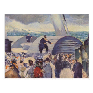 Embarkation of the Folkestone by Edouard Manet Postcard