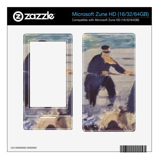 Embarkation of the Folkestone by Edouard Manet Zune HD Skin