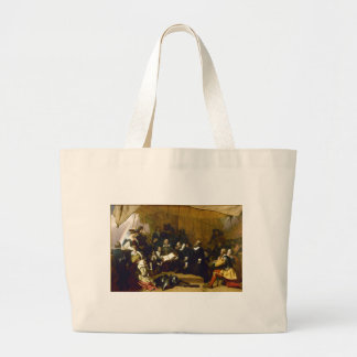 Embarkation of the Pilgrims by Robert W. Weir Large Tote Bag