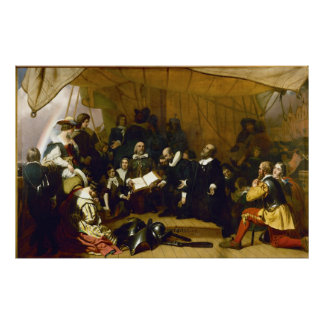 Embarkation of the Pilgrims by Robert W. Weir Posters