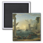 Embarkation of the Queen of Sheba - Claude Lorrain Fridge Magnet