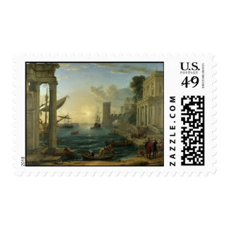 Embarkation of the Queen of Sheba - Claude Lorrain Postage