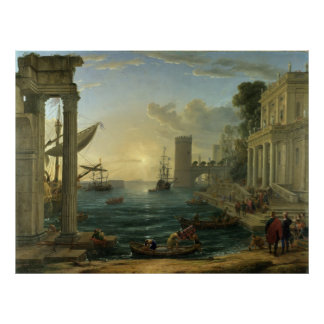 Embarkation of the Queen of Sheba - Claude Lorrain Poster