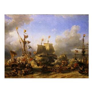Embarkment of de Ruyter and de Witt at Texel 1667 Postcard