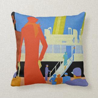 Embarque del art déco almohada