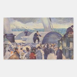 Embarque del Folkestone de Eduardo Manet Rectangular Altavoz
