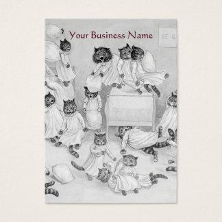 Embarque del gato - veterinario - tarjeta de tarjetas de visita grandes