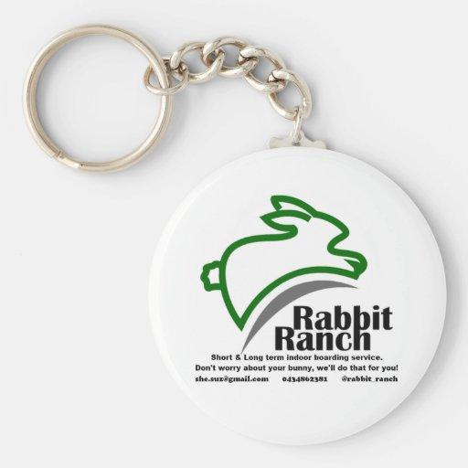 Embarque del rancho del conejo llavero redondo tipo pin