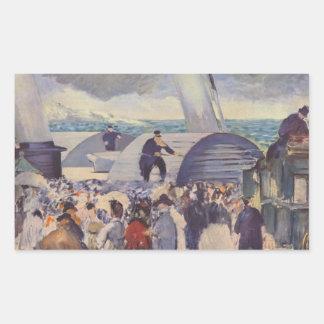 Embarque después de Folkestone de Eduardo Manet Rectangular Altavoz