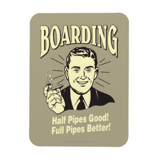 Embarque: El buen mejor lleno del medio tubo Rectangle Magnet