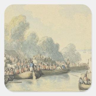 Embarque en Southampton el 20 de junio después del Pegatina Cuadradas Personalizadas