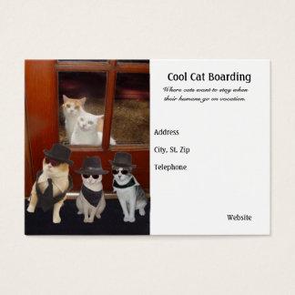 Embarque fresco del gato tarjetas de visita grandes