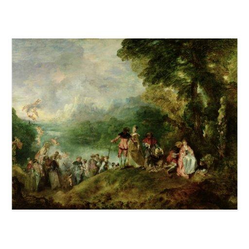 Embarque para Cythera, 1717 Tarjetas Postales