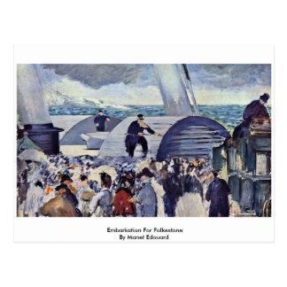 Embarque para Folkestone de Manet Eduardo Tarjeta Postal