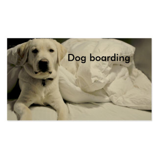 Embarque/perrera del perro tarjetas de visita