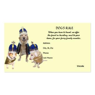 Embarque real del perro del tratamiento plantillas de tarjeta de negocio
