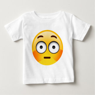 Embarrassed Emoji  with flushed cheeks Baby T-Shirt