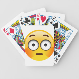 Embarrassed Emoji  with flushed cheeks Bicycle Playing Cards