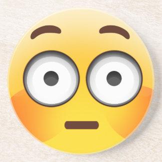 Embarrassed Emoji  with flushed cheeks Coaster