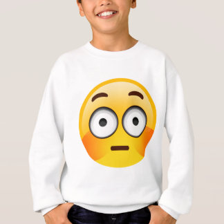 Embarrassed Emoji  with flushed cheeks Sweatshirt