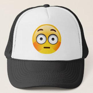 Embarrassed Emoji  with flushed cheeks Trucker Hat