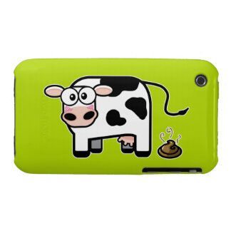 Embarrassed Pooping Cow iPhone 3 Covers